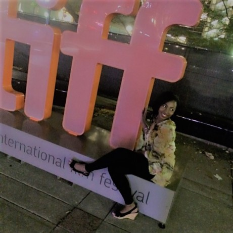 I just couldn't pass up a photo with the TIFF sign!