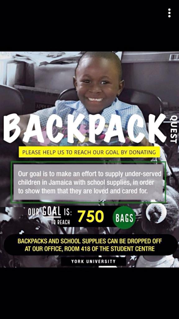 Backpack charity 2