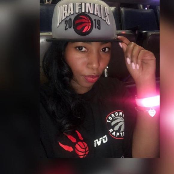 Sharma MacDonald in Scotiabank Arena Game 1 of NBA 2019 FInals