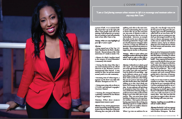 Sharma MacDonald Central New York Woman Magazine feature 3